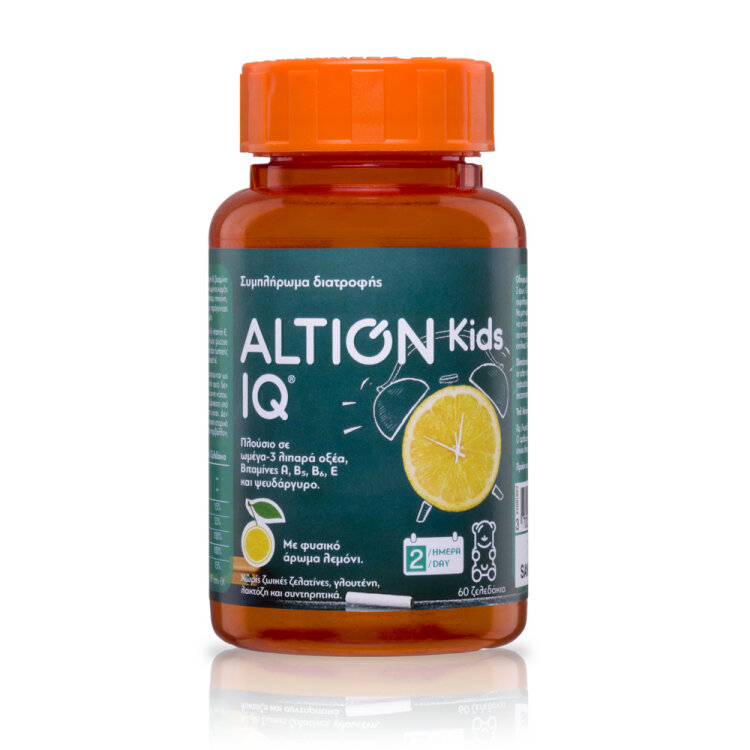 Altion Kids IQ Με Πολύτιμα Ω-3 Λιπαρά Οξέα από Λιναρόσπορο, 60 ζελεδάκια