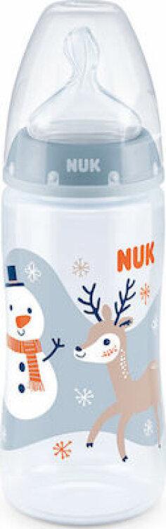 Nuk First Choice Plus Snow Edition Μπιμπερό Πολυπροπυλενίου (PP) 300ml με Θηλή 6-12m