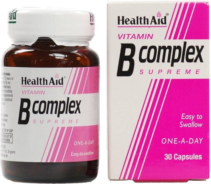 Health Aid B-Complex Συμπλήρωμα Διατροφής Βιταμίνης Β 30Caps