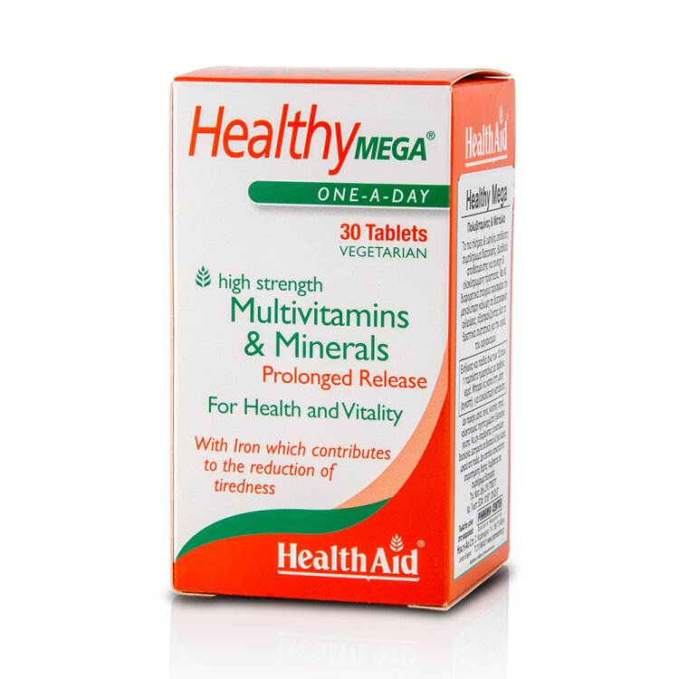 Health Aid A to Z Multivit and Minerals with Lutein, Πολυβιταμίνες 30tabs vegan