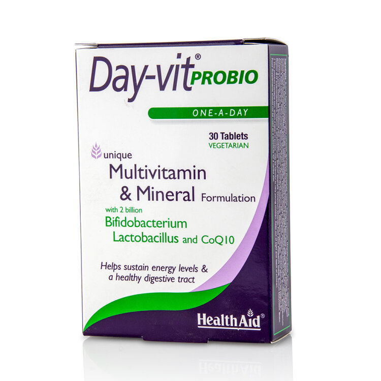 Health Aid Day-Vit Probio Multivitamin & Mineral Formulation 30tabs