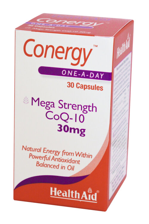 Health Aid Conergy Q10 30Mg Capsules 30'S
