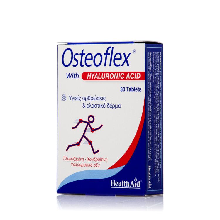 Health Aid Ostoflex with Hyaluronic Γλυκοσαμίνη, Χονδροϊτίνη Υαλουρονικό οξύ 30Tabs