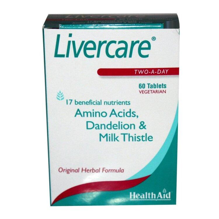 Health Aid Livercare Φυτικός Συνδυασμός για Υγιές Συκώτι 60Tablets
