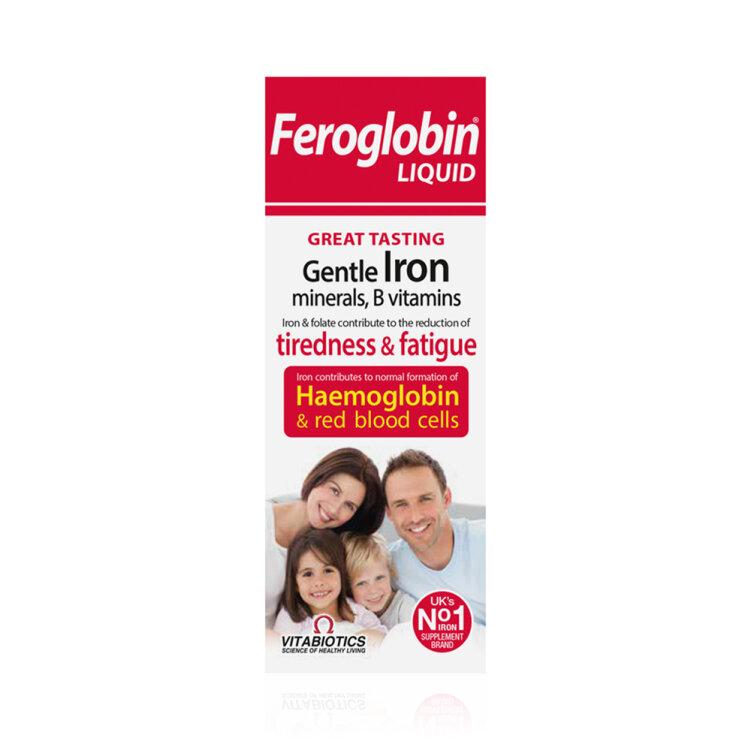 Vitabiotics Feroglobin Συμπλήρωμα Διατροφής με Σίδηρο για Ενέργεια και Τόνωση 200ml