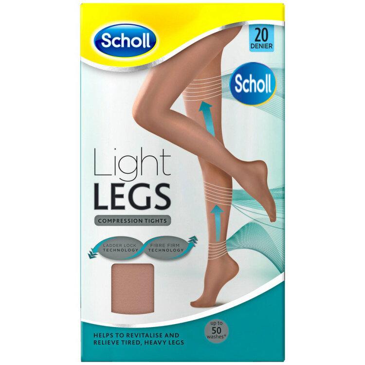 Scholl Light Legs Καλσόν Διαβαθμισμένης Συμπίεσης 20Den Μπεζ Χρώμα Large
