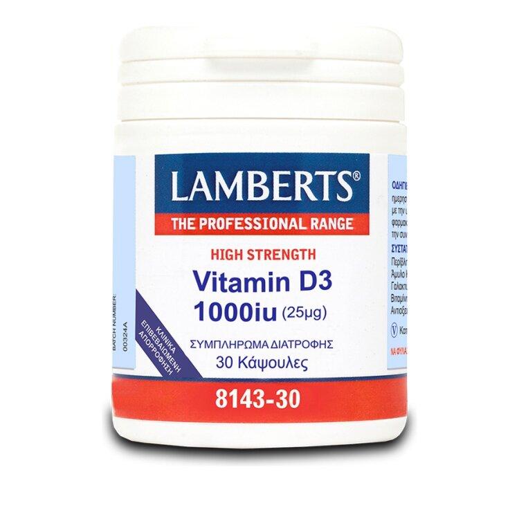 Lamberts Vitamin D3 1000iu 30Caps