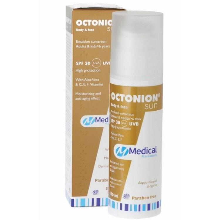 Medical Octonion Sun Body & Face SPF30 Αντηλιακό Γαλάκτωμα 150ml