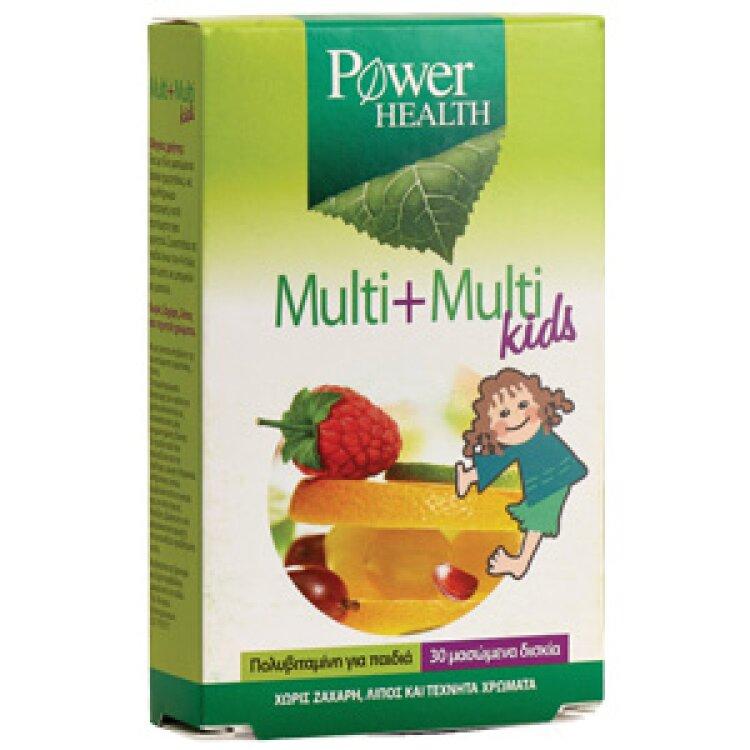Power Health Multi + Multi Kids 30 Μασώμενα Δισκία