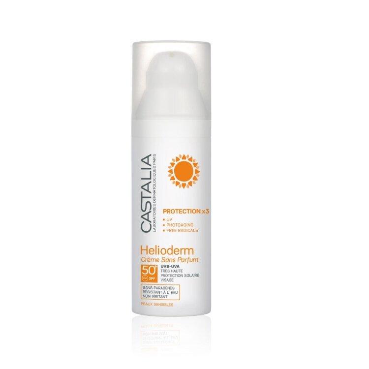 Castalia Helioderm Creme Sans Parfum Protection x 3 SPF 50+ 50ml