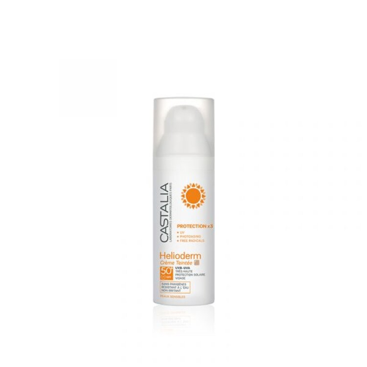 Castalia Helioderm Creme Teintee Protection x 3 SPF 50+ 50ml