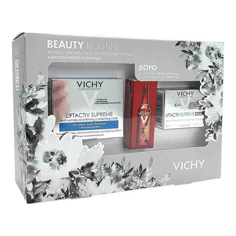Vichy Set Liftactiv Supreme Κρέμα Ημέρας 50ml & Liftactiv Supreme Νύχτας, 15ml, Liftactiv Glyco-C Night Peel