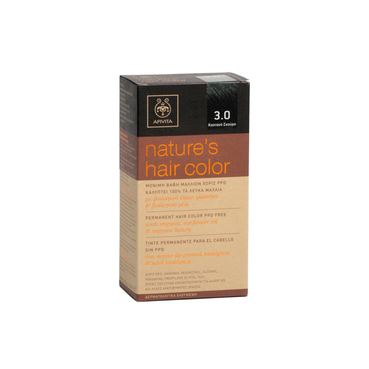 Apivita Βαφή Μαλλιών Nature_s Hair Color N3,0 Καστανό Σκούρο