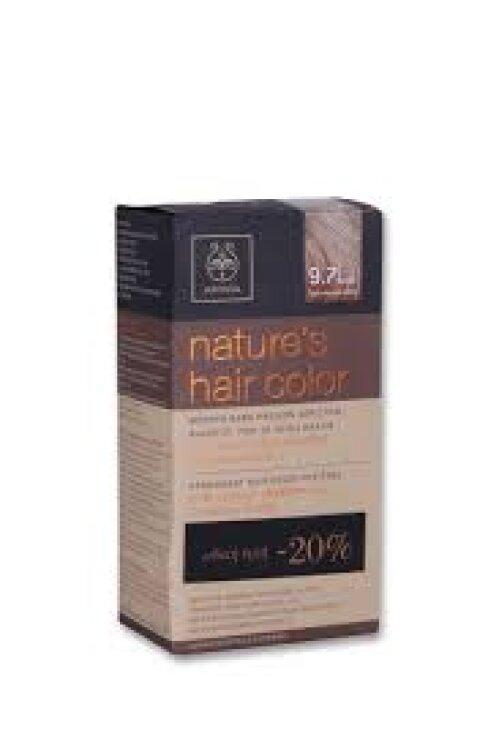 Apivita Nature's Hair Color 9.7 Ξανθό Πολύ Ανοιχτό Μπεζ 50ml