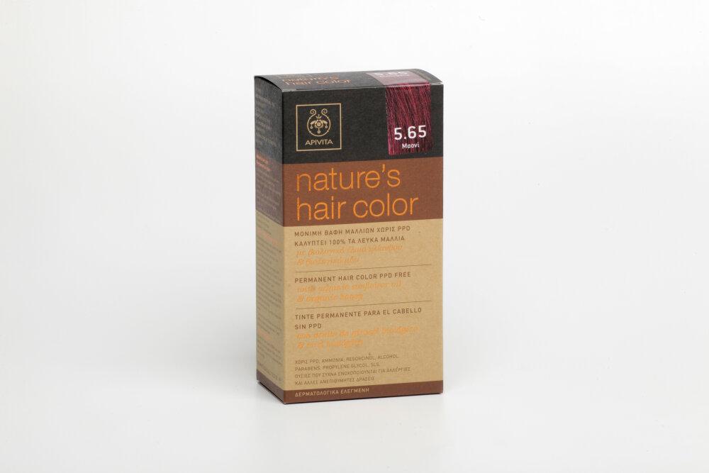 Apivita Nature's Hair Color N5,65 Mαονί