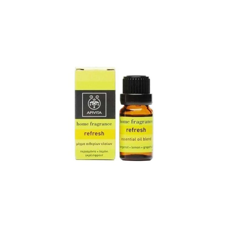 Apivita Essential Oil Refresh Μίγμα Αιθερίων Ελαίων με Περγαμόντο, Λεμόνι & Γκρειπφρούτ 10ml