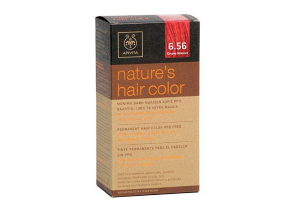 Apivita Nature's Hair Color No6.56 Έντονο Κόκκινο 50 & 75ml