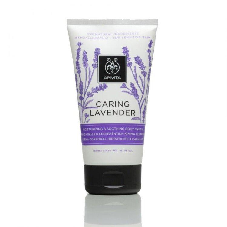 Apivita Caring Lavender, Ενυδατική & Καταπραϋντική Κρέμα Σώματος με Λεβάντα 150ml