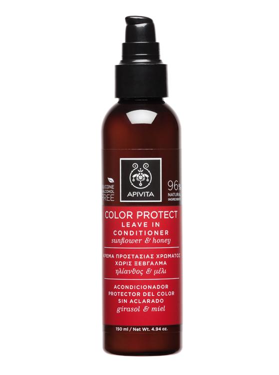 Apivita Color Protect Leave In Conditioner, Κρέμα Προστασίας Χρώματος Χωρίς Ξέβγαλμα 150ml