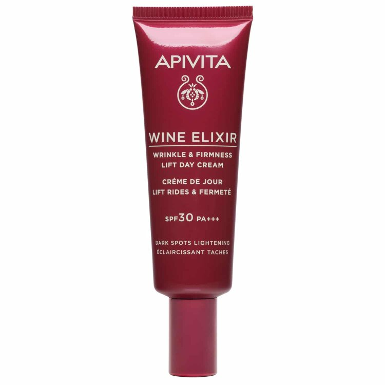 Apivita Wine Elixir Αντιρυτιδική Κρέμα Ημέρας SPF30 για Σύσφιξη & Lifting - Αποχρωματισμός πανάδων 40ml