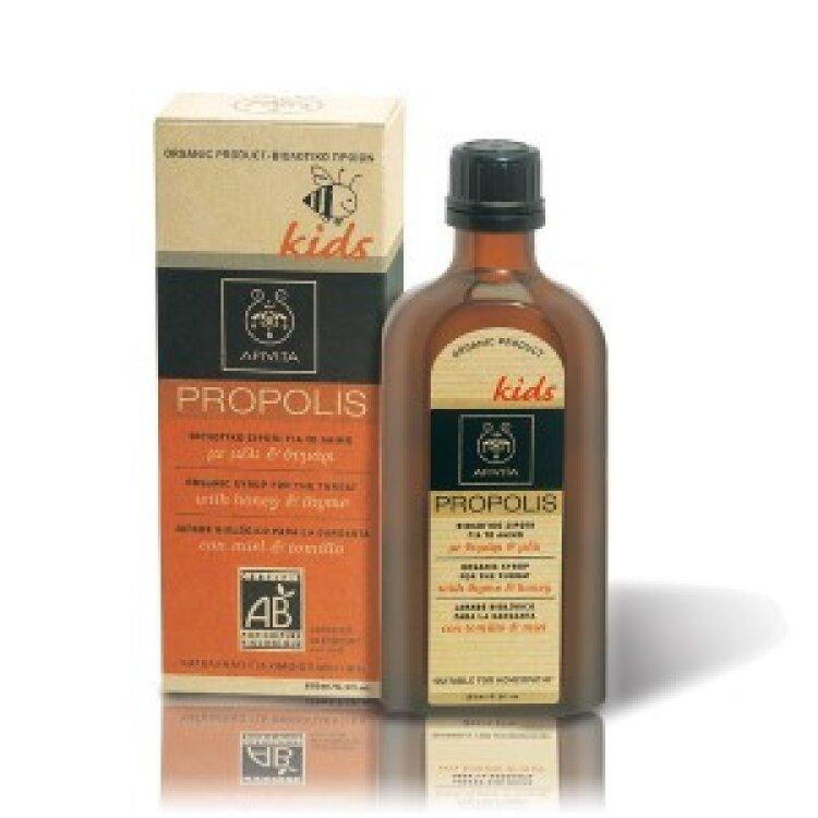 Apivita Παιδικό Βιολογικό Σιρόπι για το Λαιμό με Μέλι & Θυμάρι 150ml
