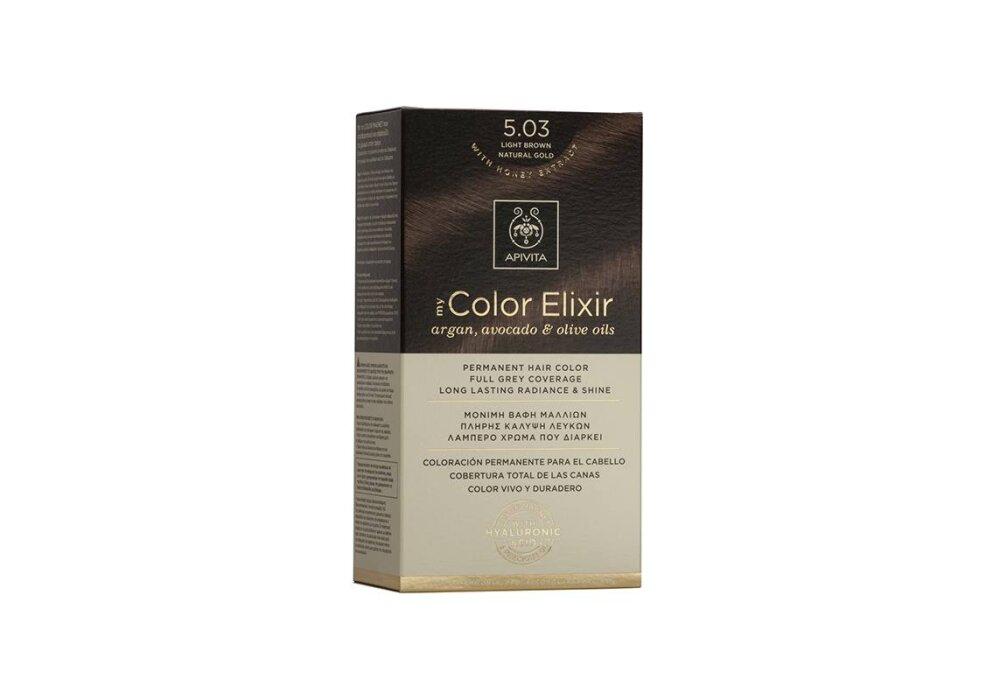 Apivita My Color Elixir No5,03 καστανό ανοιχτό φυσικό μελί 50&75ml