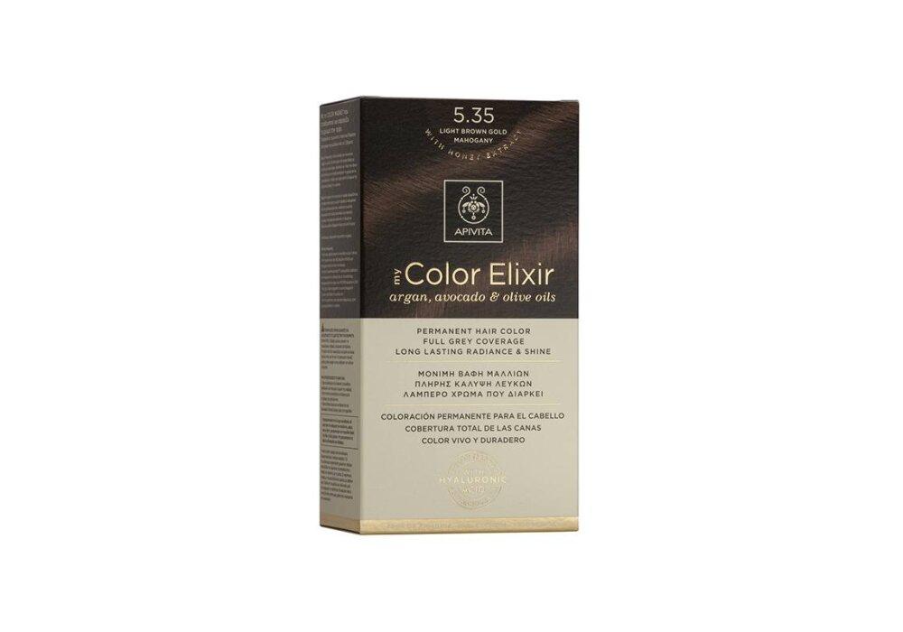 Apivita My Color Elixir No5,35 καστανό ανοιχτό μελί μαονί 50&75ml