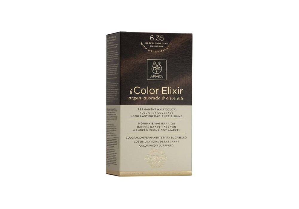 Apivita My Color Elixir Βαφή Μαλλιών 6.35 Ξανθό Σκούρο Μελί Μαονί