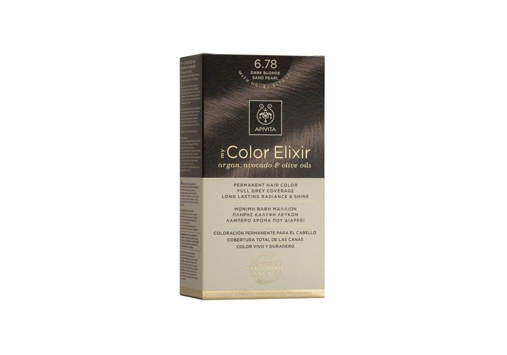 Apivita My Color Elixir No6,78 ξανθό σκούρο μπεζ περλέ 50&75ml