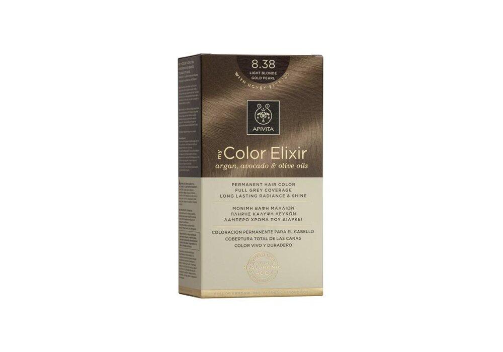 Apivita My Color Elixir No8,38 ξανθό ανοιχτό μελί περλέ 50&75ml