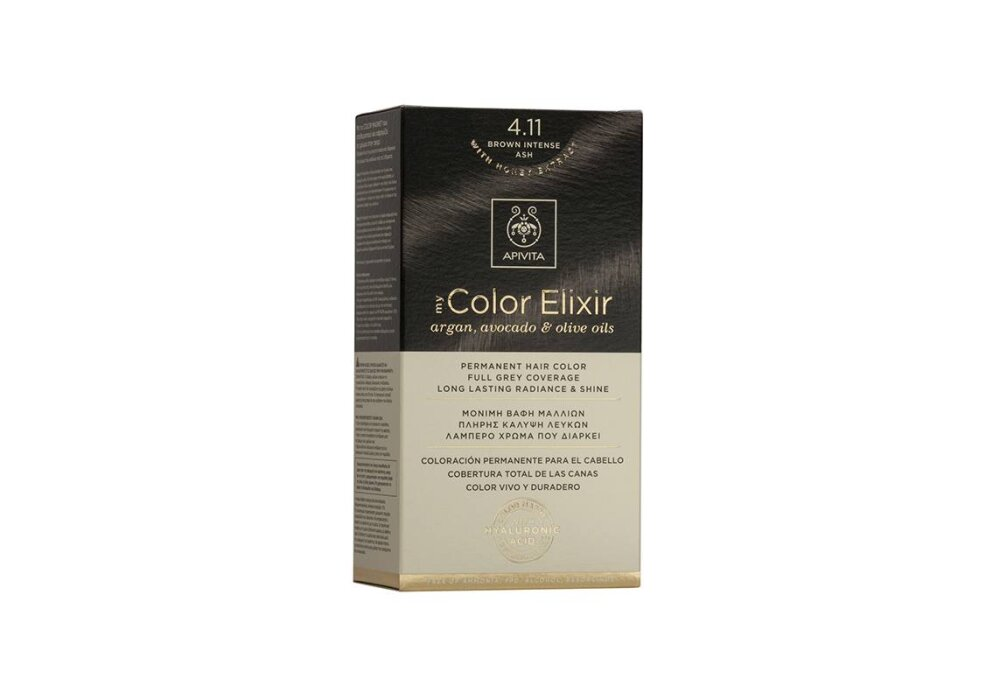 Apivita My Color Elixir No4,11 καστανό έντονο 50&75ml