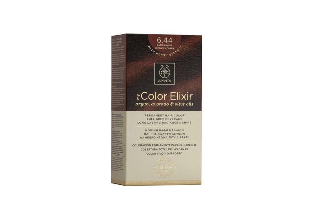 Apivita My Color Elixir Βαφή Μαλλιών 6.44 Ξανθό Σκούρο Έντονο Χάλκινο