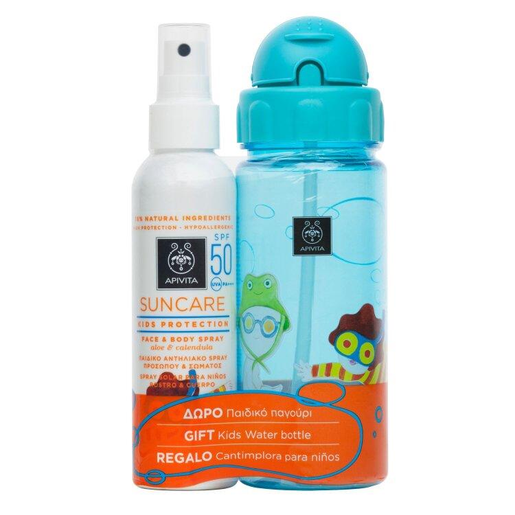Apivita Promo Παιδικό Αντηλιακό Spray με Δώρο Παιδικό Παγούρι 150ml