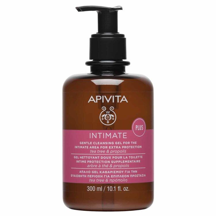 Apivita Intimate Plus - Απαλό Gel Καθαρισμού Για Την Ευαίσθητη Περιοχή Για Επιπλέον Προστασία Με Αντλία 300ml