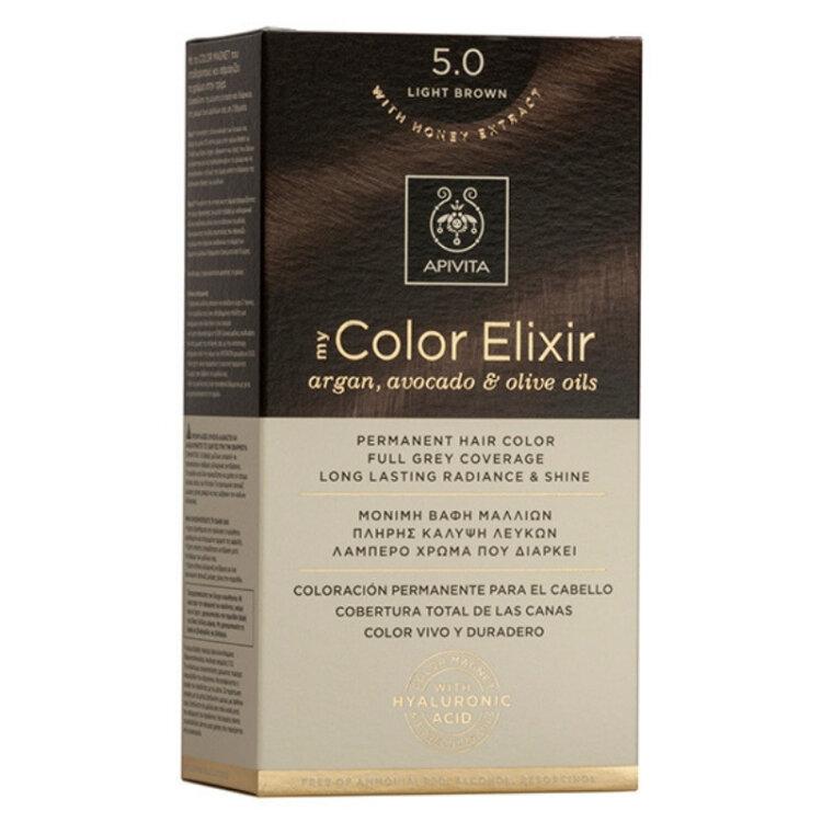 Apivita My Color Elixir Βαφή Μαλλιών 5.0 Καστανό Ανοιχτό