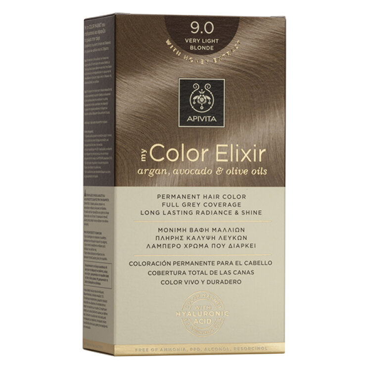 Apivita My Color Elixir Νo 9.0 Ξανθό Πολύ Ανοιχτό