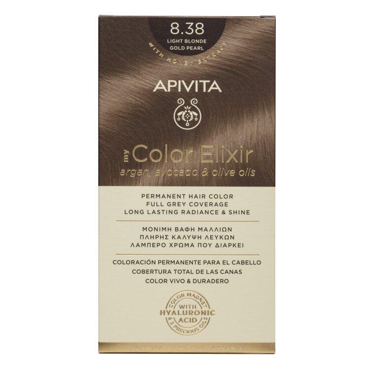 Apivita My Color Elixir Νo 8.38 Ξανθό Ανοιχτό Μελί Περλέ