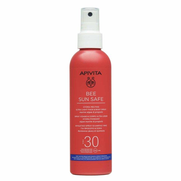 Apivita BEE SUN SAFE Ενυδατικό Spay Ελαφριάς Υφής για Πρόσωπο & Σώμα SPF30 200ml