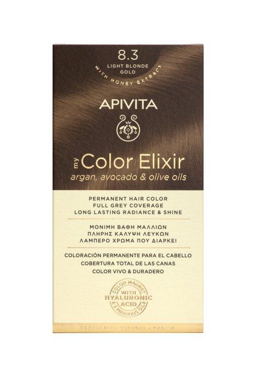 Apivita My Color Elixir Βαφή Μαλλιών 8.3 Ξανθό Ανοιχτό Χρυσό