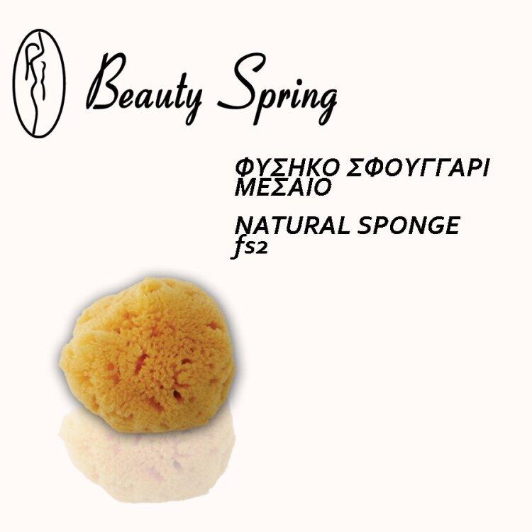 Beauty Spring Σφουγγάρι Φυσικό Μεσαίο 2