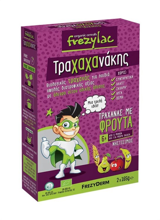 Frezyderm Frezylac Τραχαχανακης Βιολογικός Τραχανάς με Βιολογικά Φρούτα 2*165gr