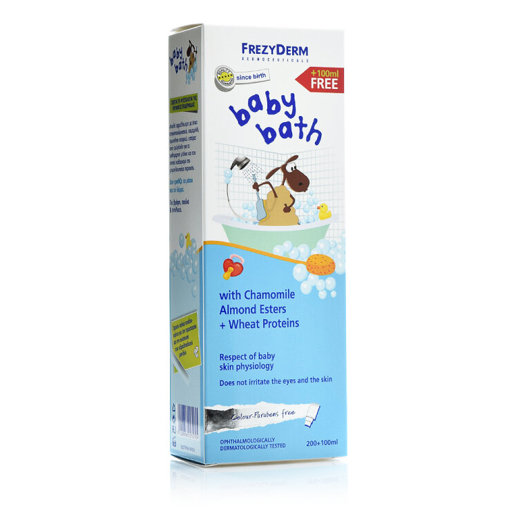 Frezyderm Baby Bath Βρεφικό Αφρόλουτρο, Χωρίς Χρωστικές & Parabens 200ml + 100ml ΔΩΡΟ
