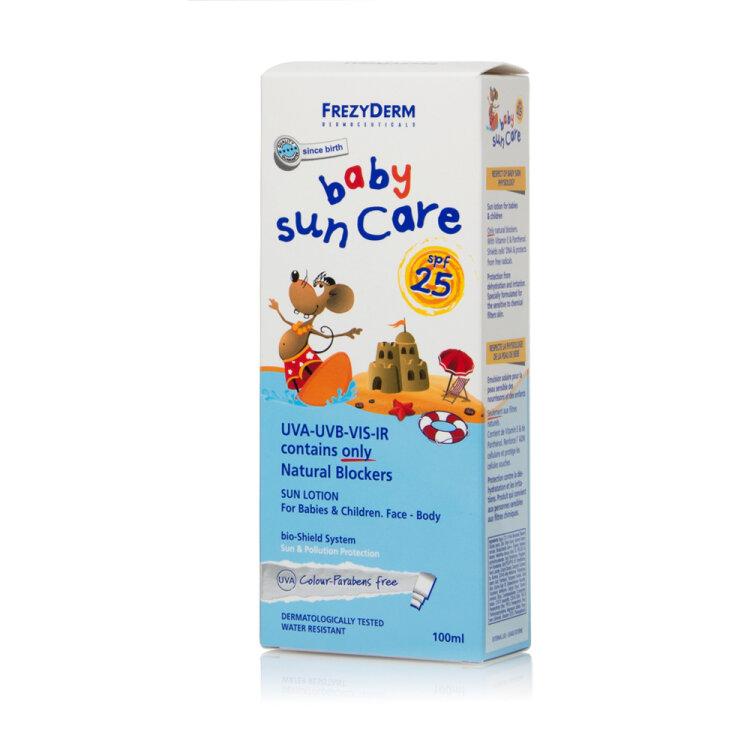 Frezyderm Baby Sun Care SPF25, Αντηλιακό Γαλάκτωμα για Βρέφη & Παιδιά Πρόσωπο/Σώμα 100ml