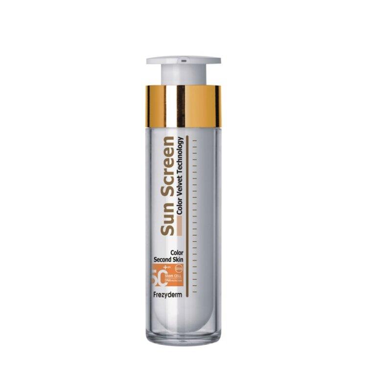 Frezyderm Sun Screen Color Velvet Face Cream SPF 50+  Με Χρώμα 50ml