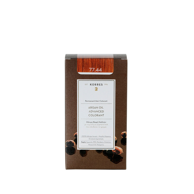 Korres Βαφή ARGAN OIL Advanced Colorant 77.44 Ξανθό Έντονο Χάλκινο