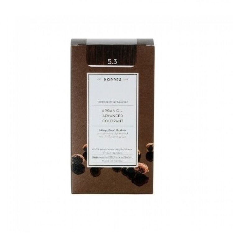 KORRES ARGAN OIL Advanced Colorant 5.3   Καστανό Ανοιχτό Μελί