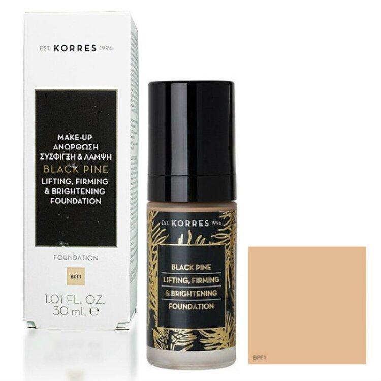 Korres Μαύρη Πεύκη Lifting, Firming & Brightening Foundation,Συσφικτικό & Ανορθωτικό Make-Up BPF1 30ml