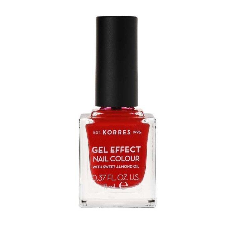 Korres Gel Effect Nail Colour No.53 Royal Red Βερνίκι Νυχιών 11ml