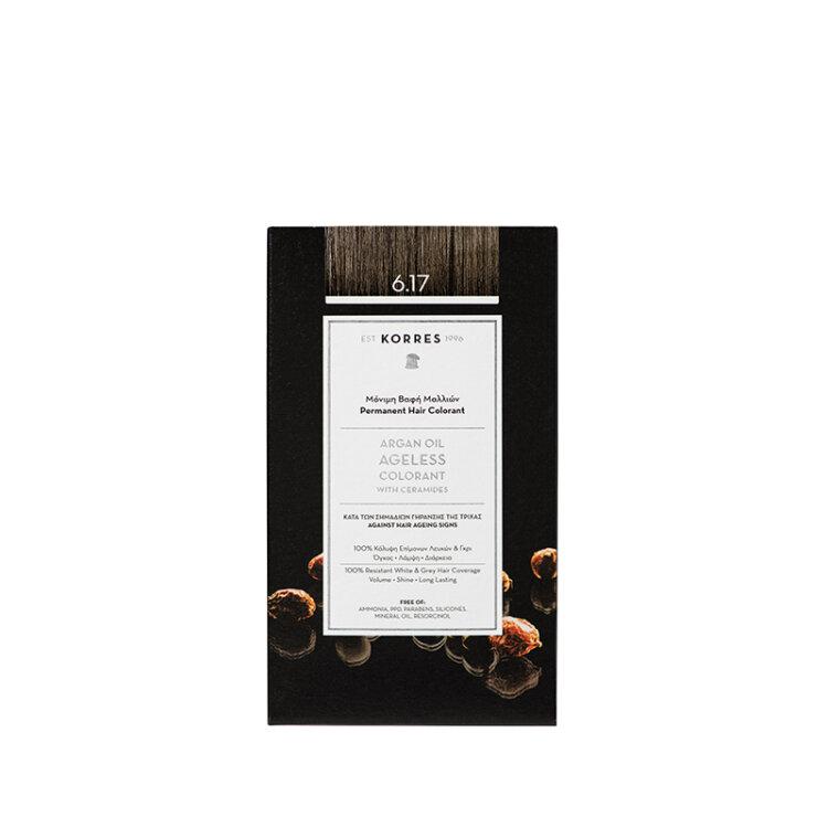 KORRES ARGAN OIL Ageless Colorant με ceramides - Σκούρο ξανθό μπεζ 6.17