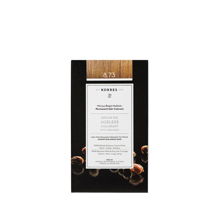 KORRES ARGAN OIL Ageless Colorant με ceramides - Χρυσή καραμέλα 8.73